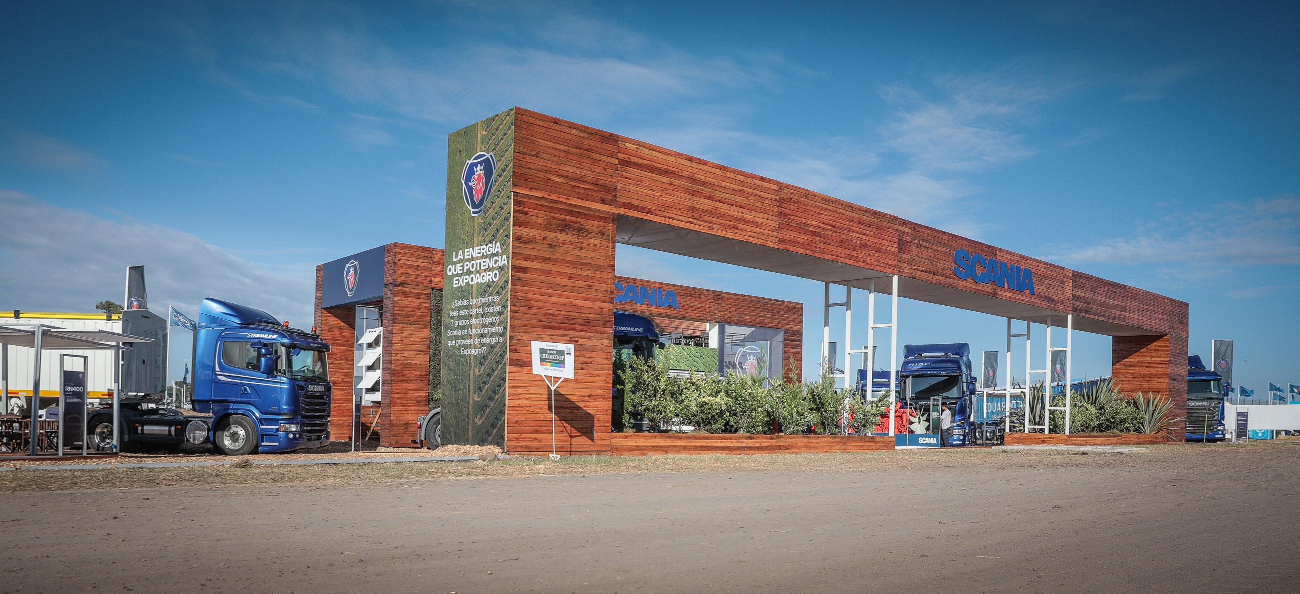 Expoagro Stands : La energÍa scania potencia expoagro scania argentina