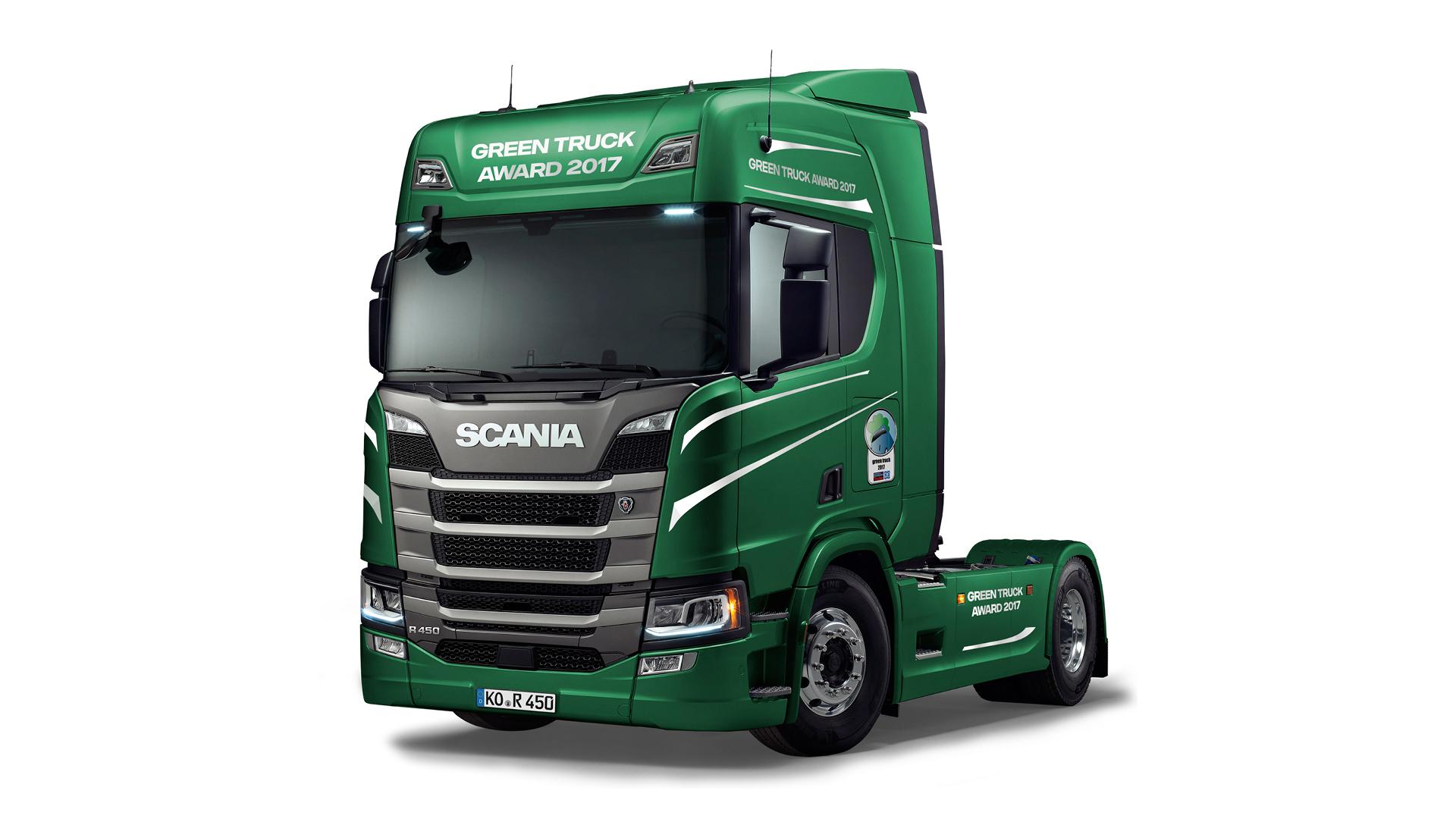 le nouveau scania r450 se place en t te du classement environnemental et est nomm green truck. Black Bedroom Furniture Sets. Home Design Ideas