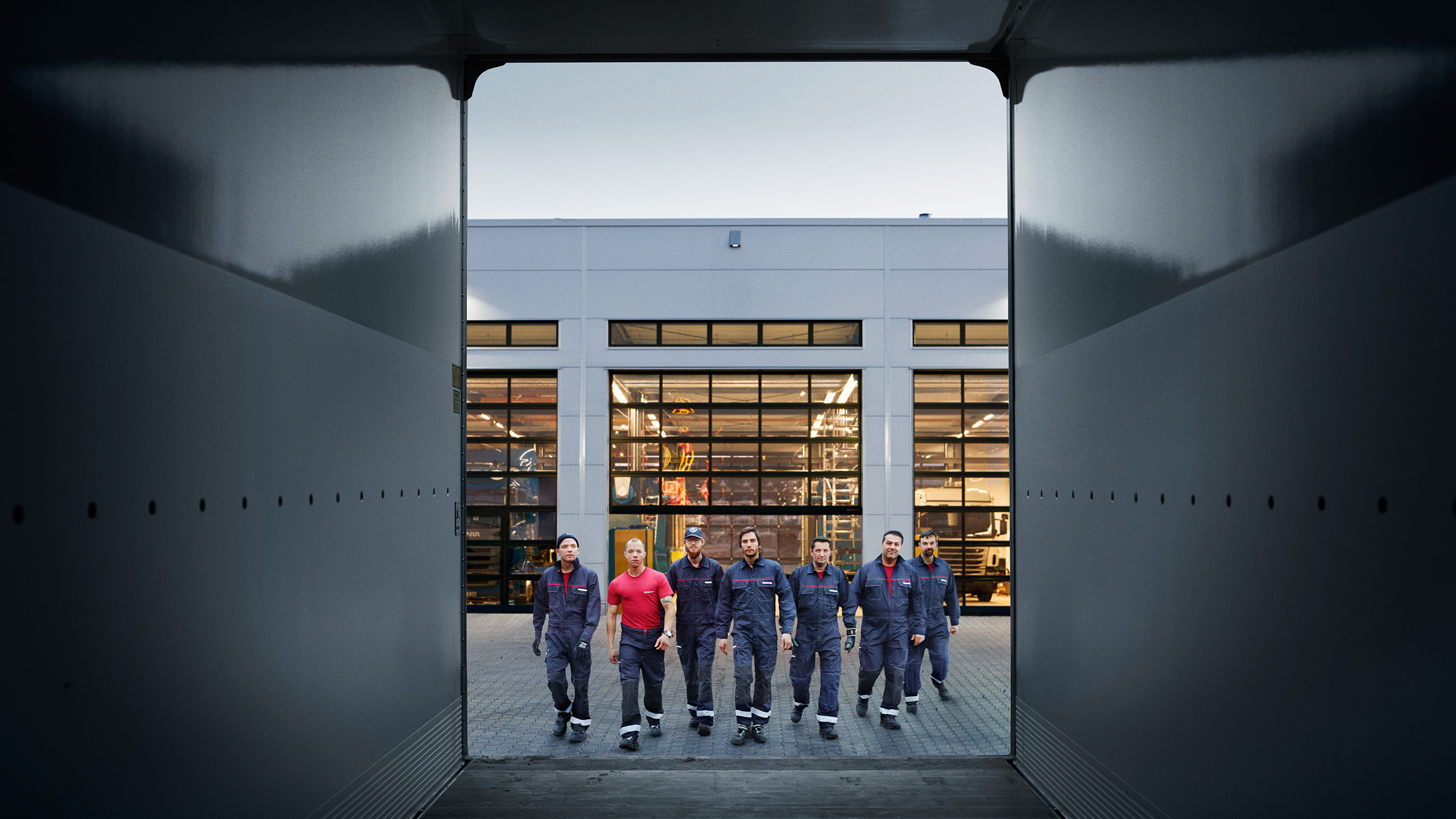 Scania workshop technicians